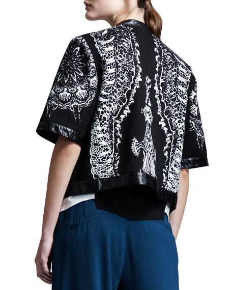 Urchin-Print Sweatshirt Jacket