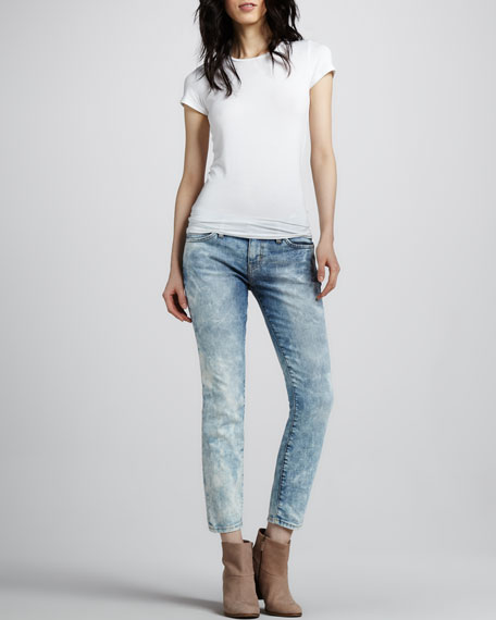 The Low-Rise Stiletto Jeans, Crazy Wash