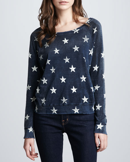 The Letterman Star Knit Top