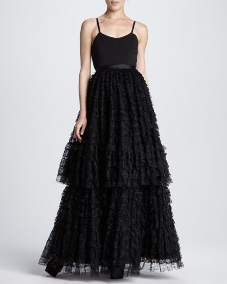 Blakely Tiered Lace Ball Gown