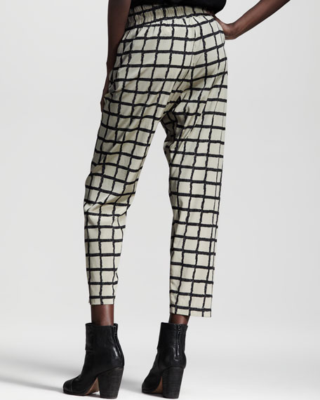 Easy-Fit Windowpane Pants