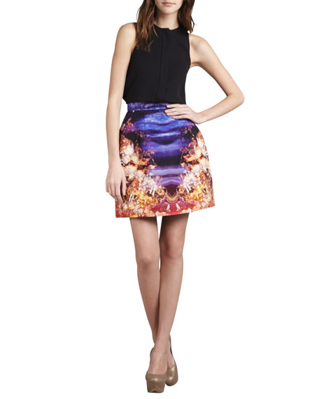 Printed Structured Skirt