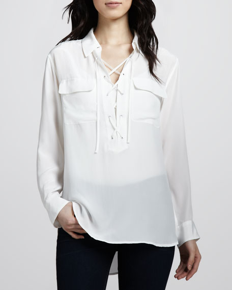 Lace-Up Super Vintage Wash Top