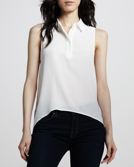 Francis High-Low Silk Top