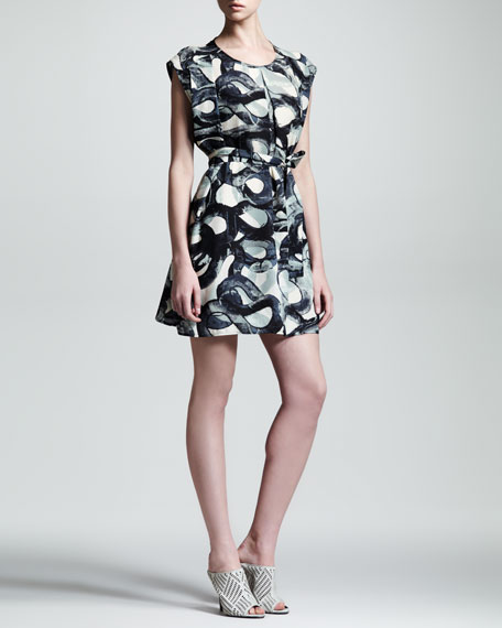 Metamorph Swirl Silk Dress