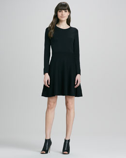 Theory Gleam Annarey Ponte Dress