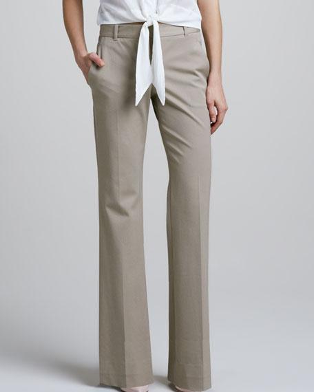 Juliena Tailored Pants, Warm Khaki