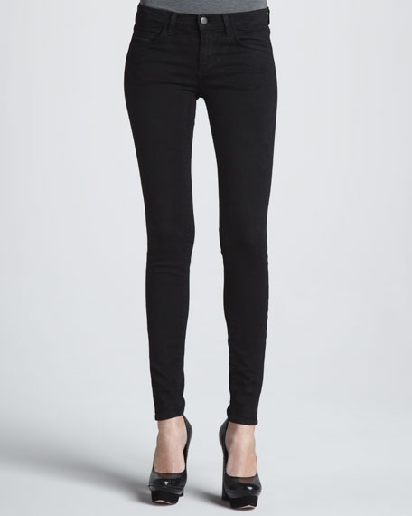 Mid-Rise Skinny Ankle Jeans, Eclipse