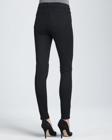 811 Mid-Rise Skinny Jeans, Black Shadow