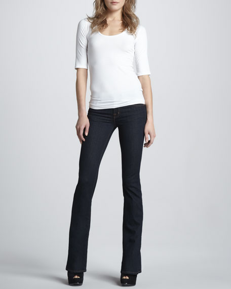 818 Mid-Rise Starless Boot-Cut Jeans