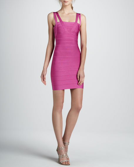 Double-Strap Bandage Dress, Caprice