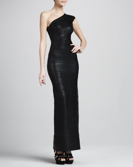 One-Shoulder Bandage Gown