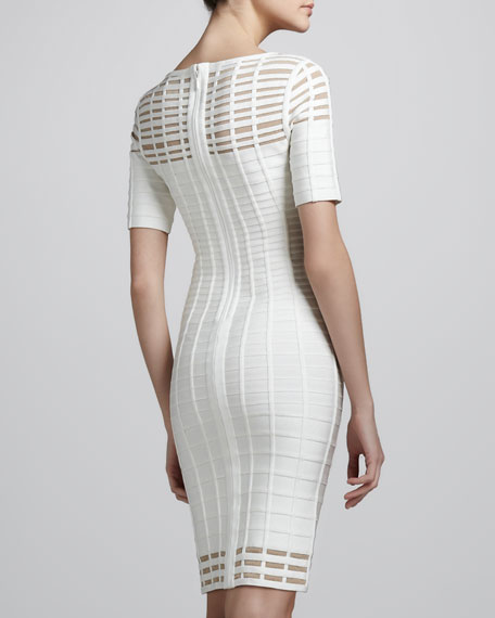 Cutout Half-Sleeve Bandage Dress