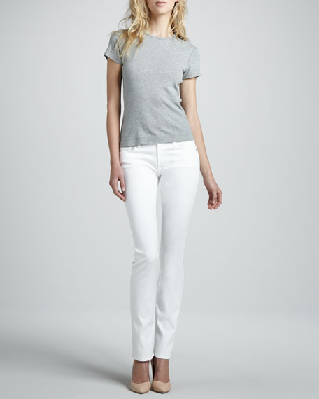 Straight-Leg Jeans, Clean White