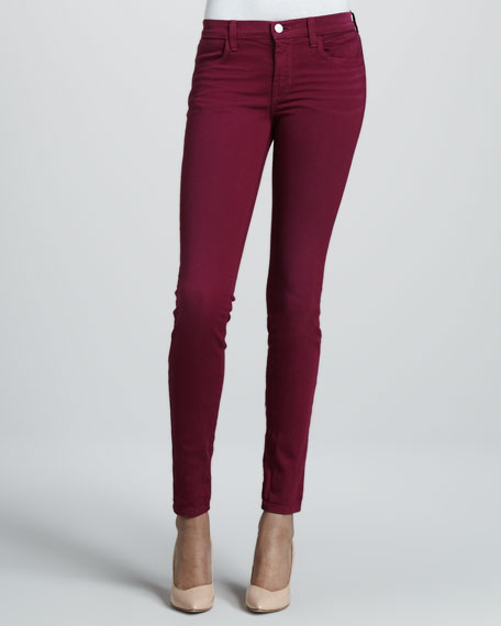 620 Super Skinny Washed Loganberry Jeans