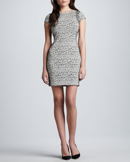 Pele Snake-Wave Jacquard Dress