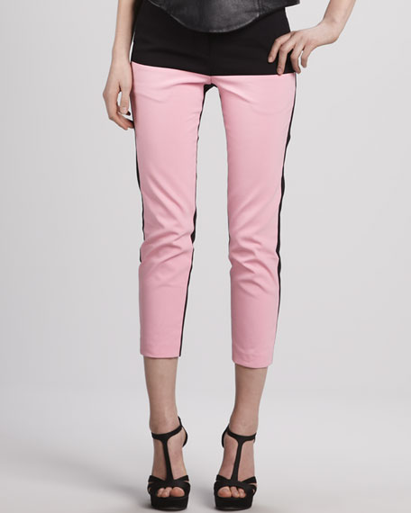 Colorblock Cropped Pants