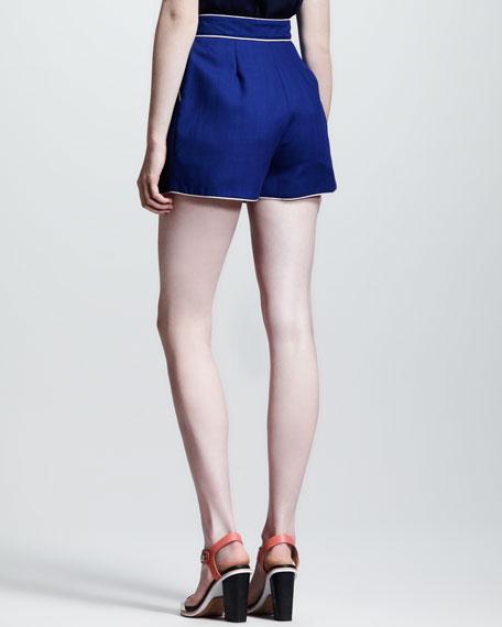 Eva Piped Wool Shorts