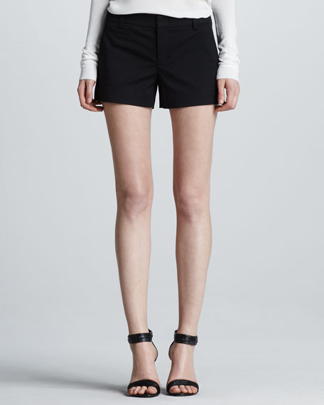 Relaxed Tennis Shorts, Black