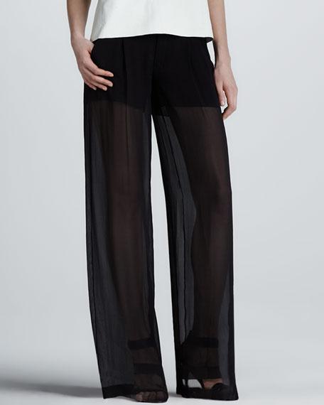 Sheer Silk Trousers