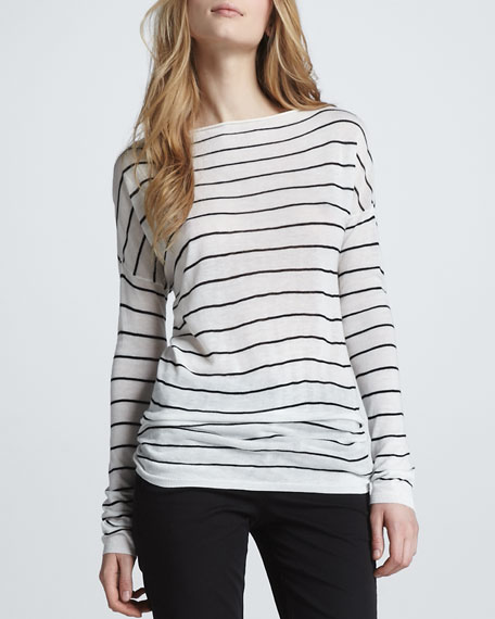 Striped Boat-Neck Top