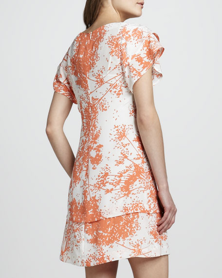 Ines Tier-Sleeve Shift Dress