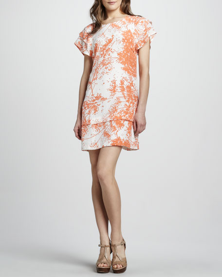 Ines Tier-Sleeve Shift Dress