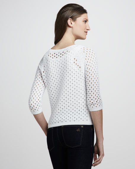 Pointelle Raglan Sweater