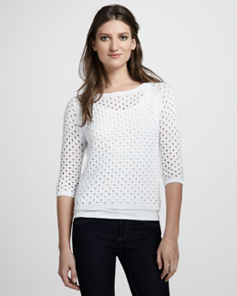 Autumn Cashmere Pointelle Raglan Sweater