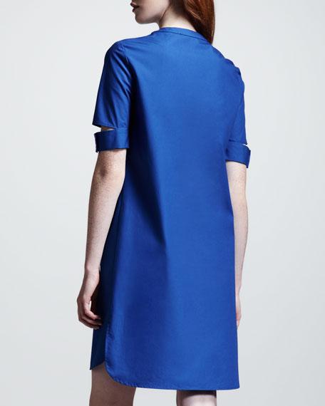 Louisa Split-Sleeve Colorblock Tunic Dress