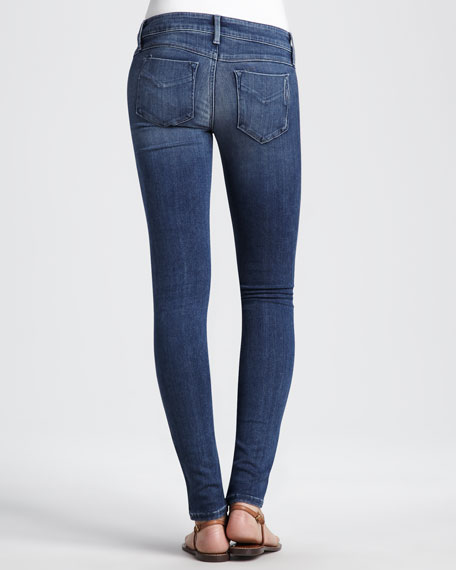 Tribal-Embroidered Skinny Jeans