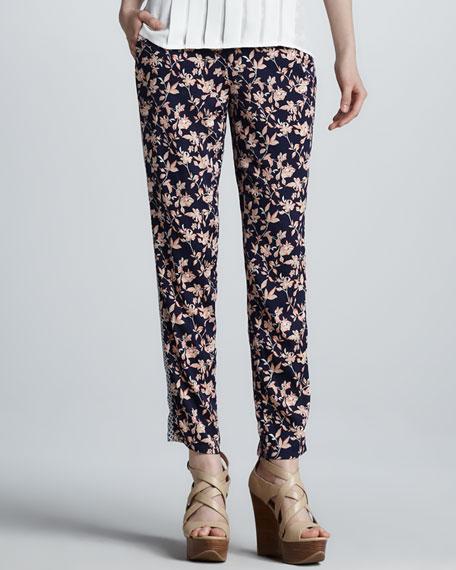 Olaya Floral-Print Pants