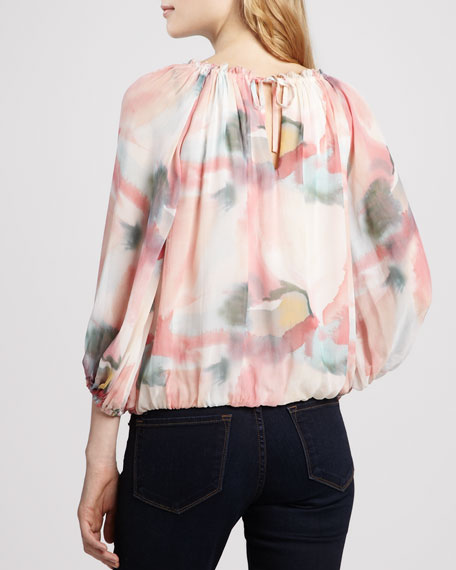 Tama Puff-Sleeve Floral Top