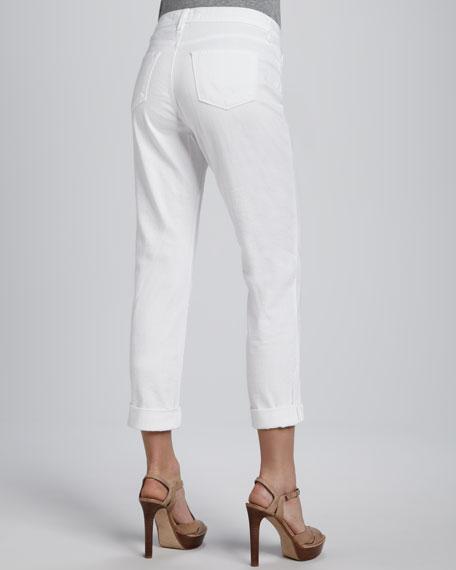 1214 Moto Boyfriend Eyelet-Panel Cuffed Jeans