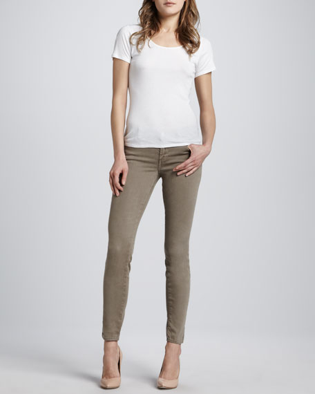 620 Mid-Rise Over-Dye Skinny Jeans, Caper