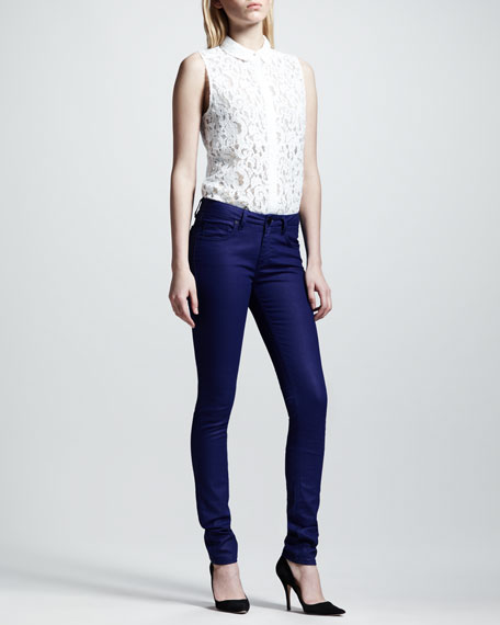 Waxed Super-Skinny Jeans