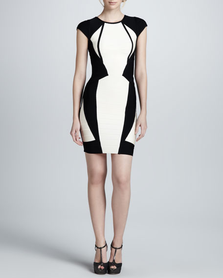 Two-Tone Bandage Dress
