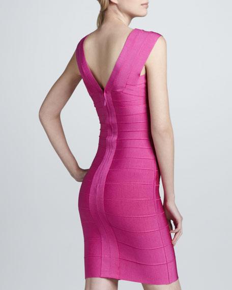 V-Neck Bandage Dress