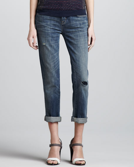 Jessie Cropped Boyfriend Jeans
