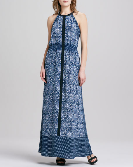 Star Paisley-Print Maxi Dress