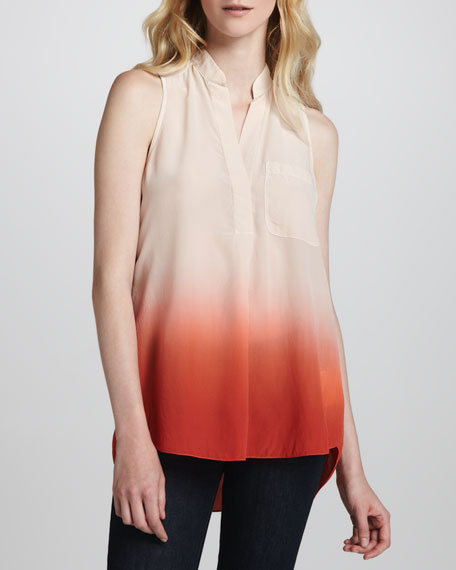 Sleeveless Ombre Blouse