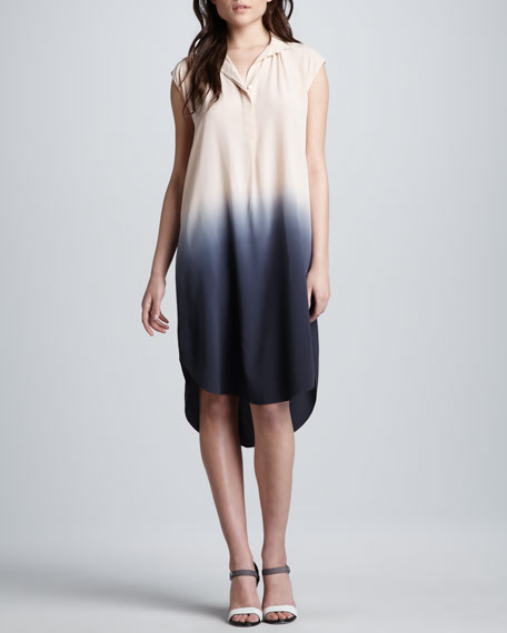 Ombre Silk Shift Dress