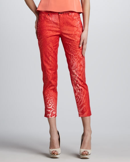 Farrell Printed Ankle Jeans