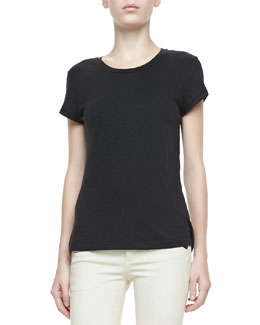 rag & bone/JEAN Cotton Tee, Black