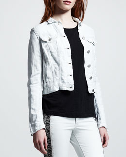 rag & bone/JEAN Destroyed Jean Jacket, Bleach Out
