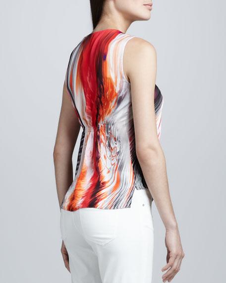 Regan Printed Silk Blouse