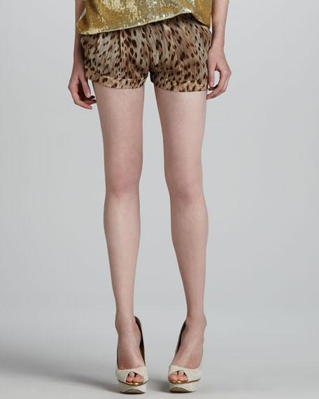 Leopard-Print Shorts