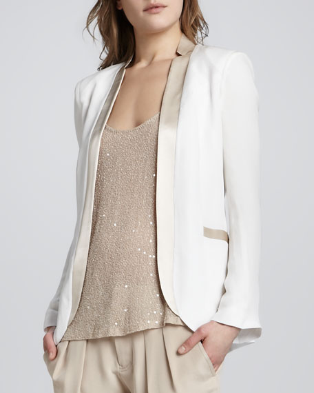 Blazer with Dropped Lapels