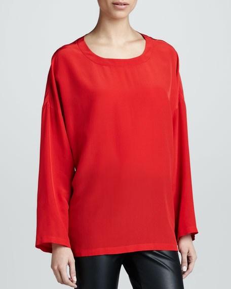 Silk Boxy Blouse