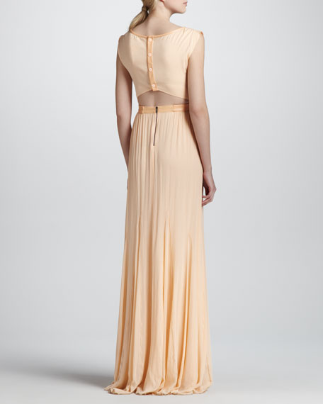 Alice Olivia Triss Belted Maxi Dress